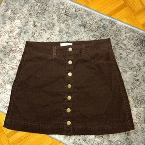 Boutique Forever 21 brown corduroy skirt 😍